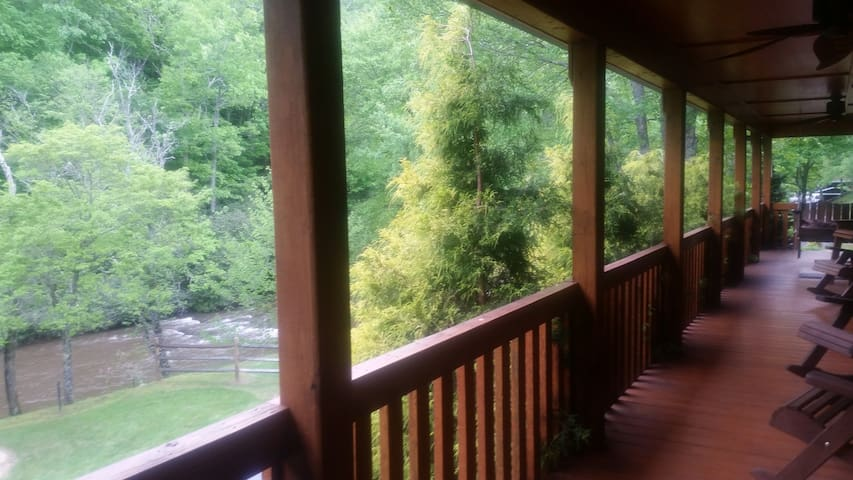 view of the river from front porch