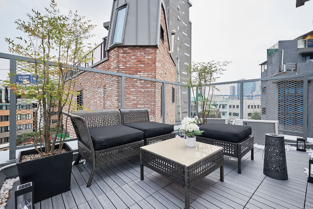 Private outdoor terrace_This is only for you 私人阳台_这就是你们的了