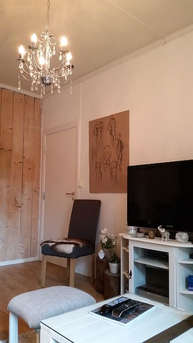 Charming wooden wall and art