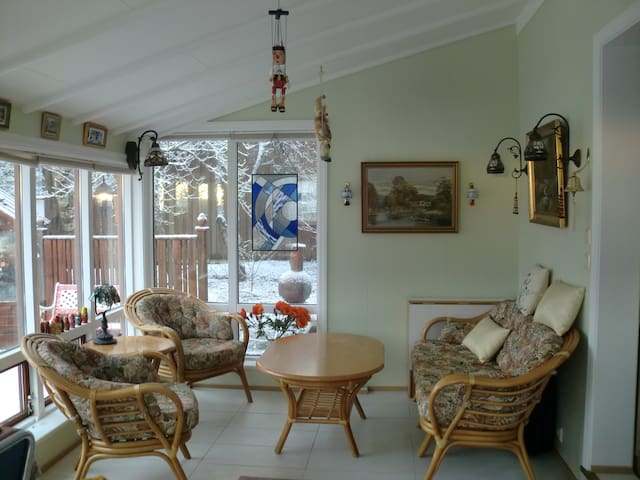 The sunroom.
