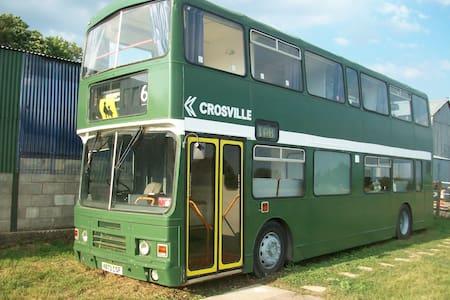 LLan-Y-Pwll Farm, Double Decker Glamping Bus 1