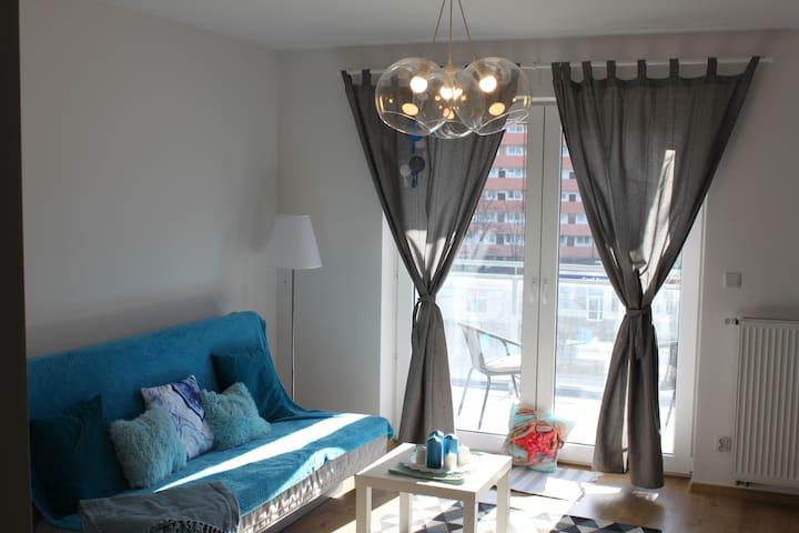 BlueSuite apartament z wanną i tarasem na dachu!