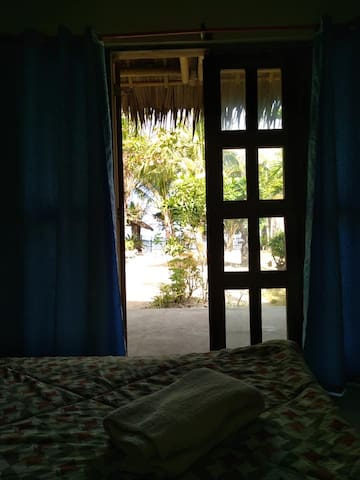 The room is Overlooking the beach.