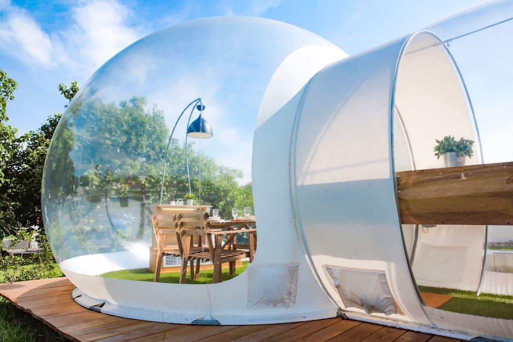 八里泡泡窩-透明餐廳泡泡