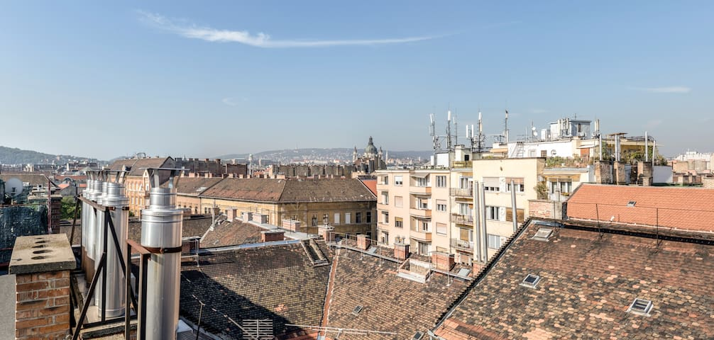 Unique flat in city centre, roof terrace panorama