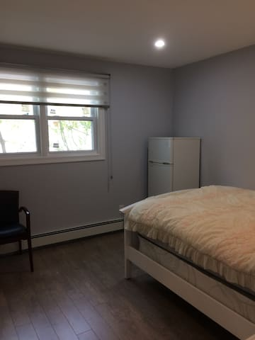 Newly renovated room with Queen bed
