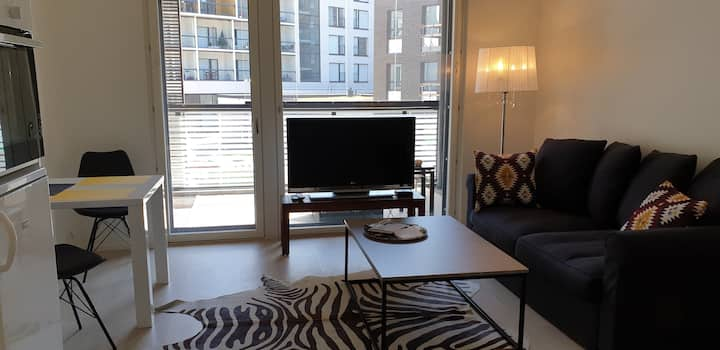 Studio apartment near station, 6 min to Airport