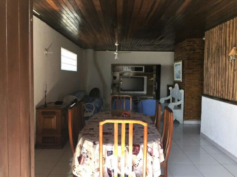A sala com 2 ambientes