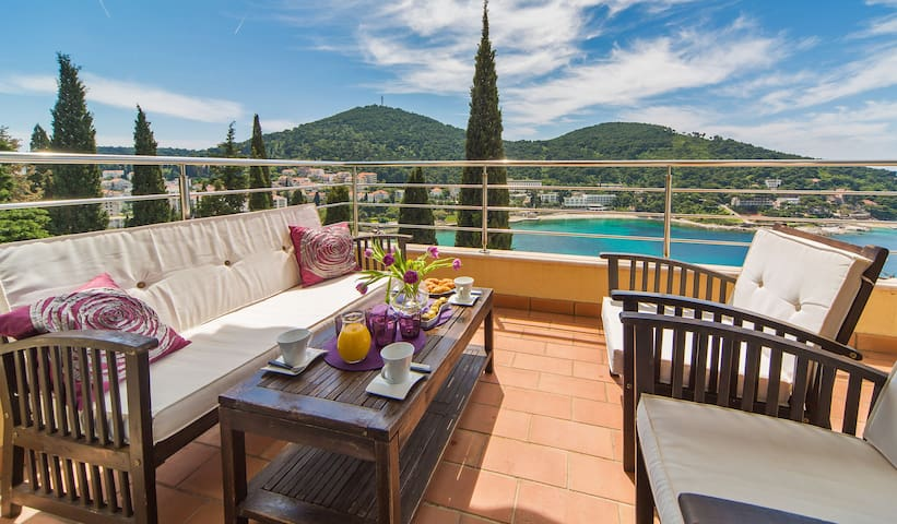 Relax in style and soak up the sea view from your balcony