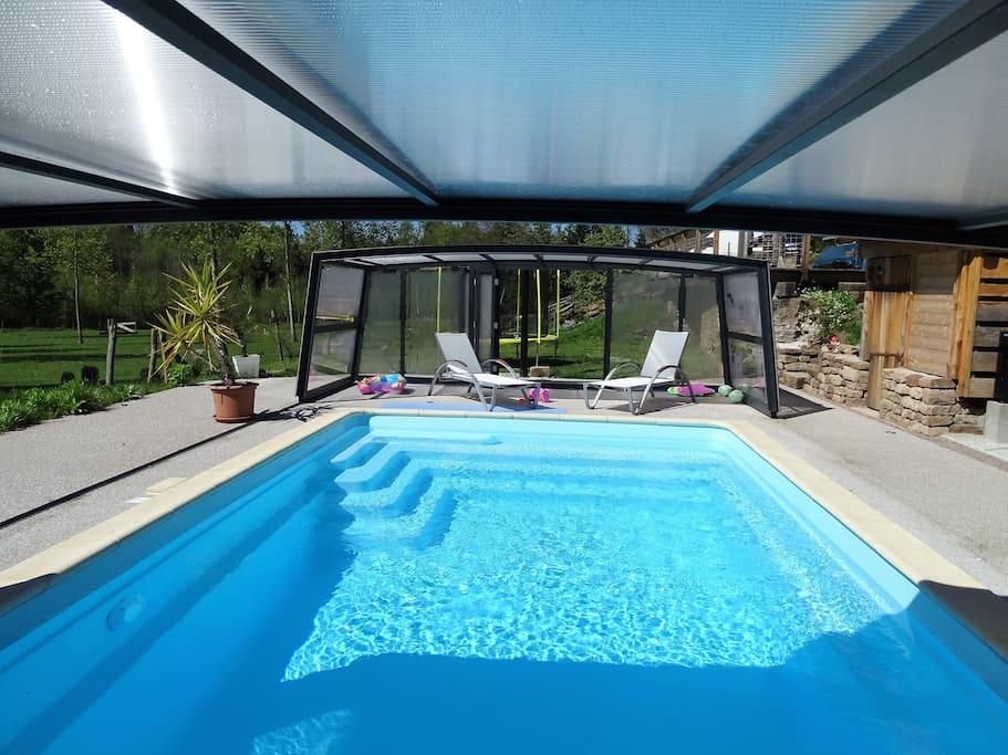 Maison de charme 4 avec piscine sauna prive for Piscine de champagne