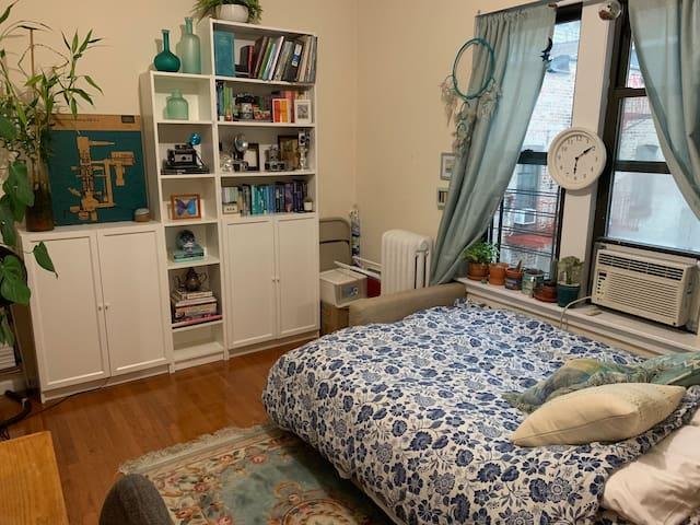 Small bedroom in cozy Inwood top floor apartment!