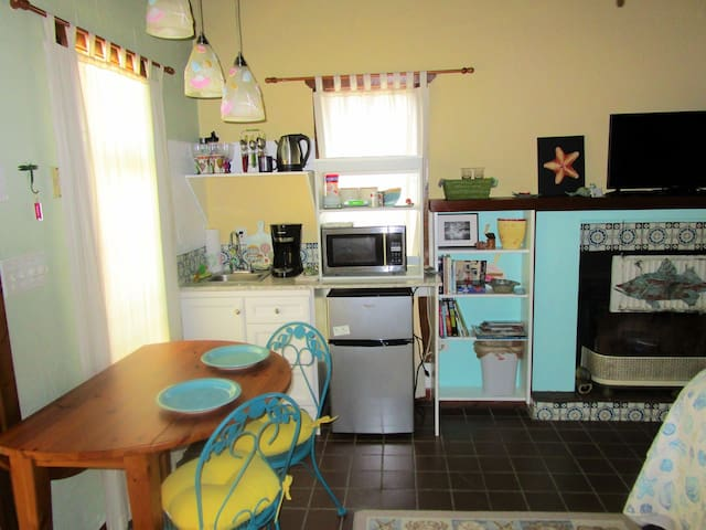 North Side.  Remodeled kitchenette and dining space