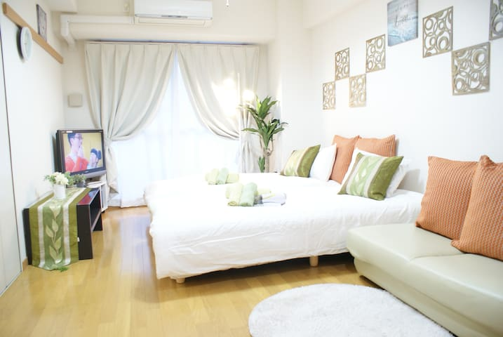 NEW!! Unlimited WIFI+3Beds at Namba Shinsaibashi!! - Chūō-ku, Ōsaka-shi - Apartamento