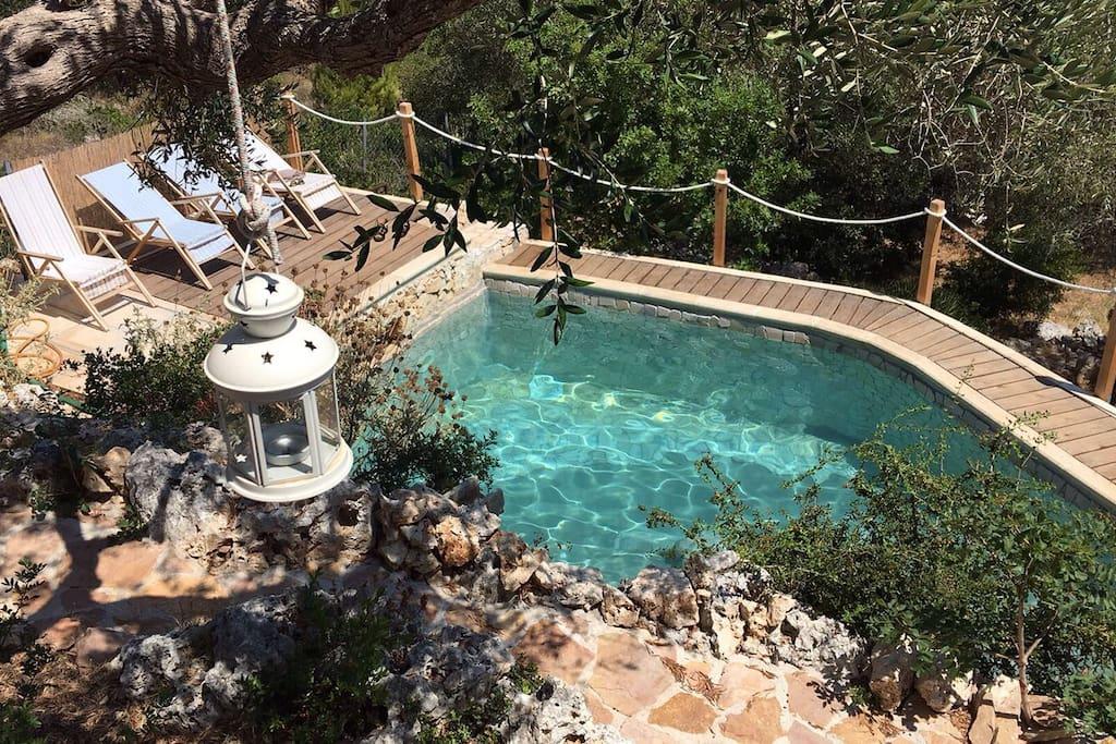 la piscina dall'alto