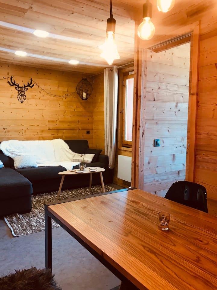 Appartement skis aux pieds pour 4 personnes