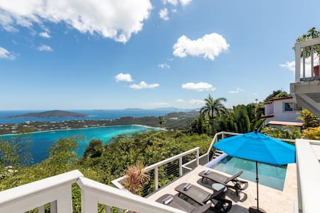 Sweeping view of Magens Bay & Tropical Lagoon Pool