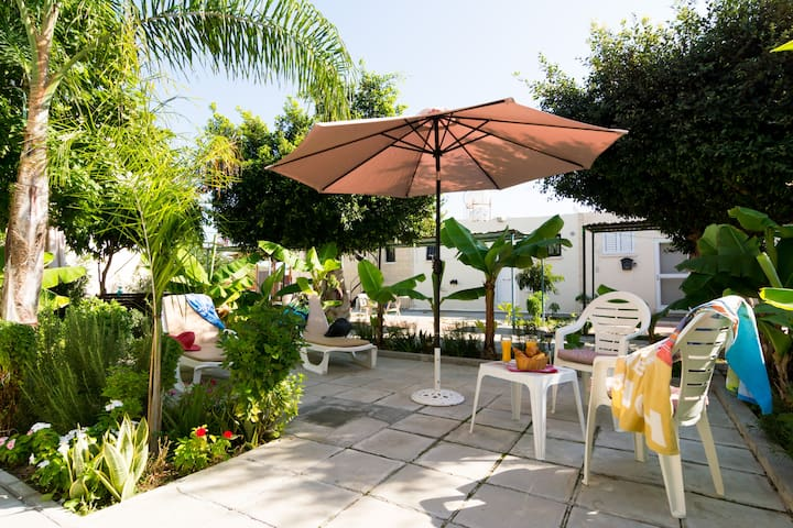 Ground floor apartment with private garden.