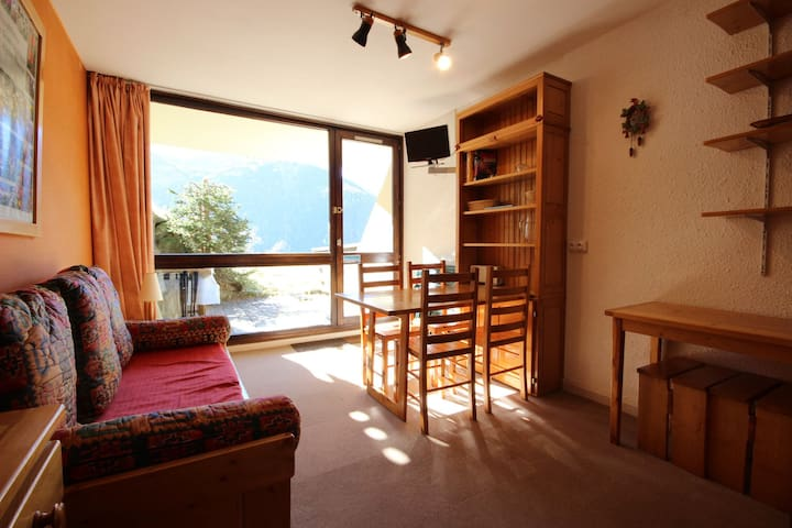 Studio for 4 persons in Plan Peisey close to lifts and shops