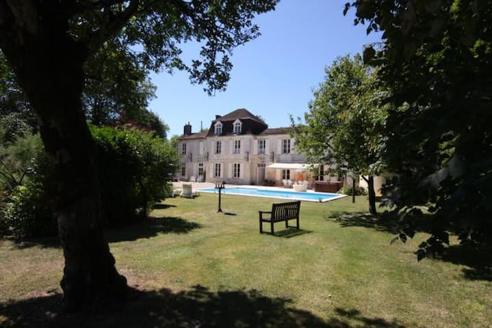 Logis Near Jarnac with pool  Room 1 of 3