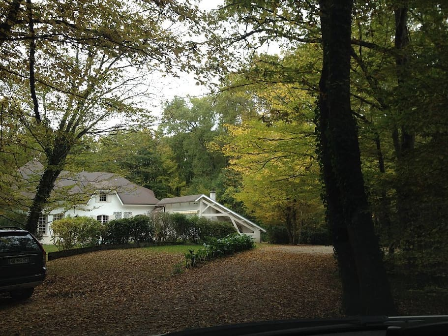 Front entry. Quiet wooded area