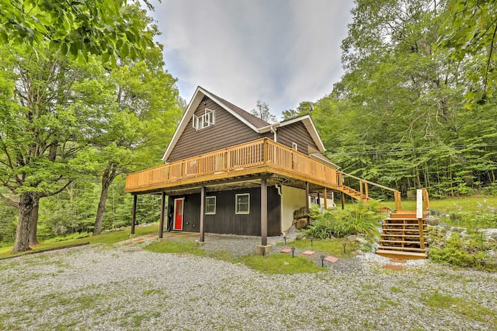 New! Quiet 3BR Au Sable Forks Home w/ Great Deck!