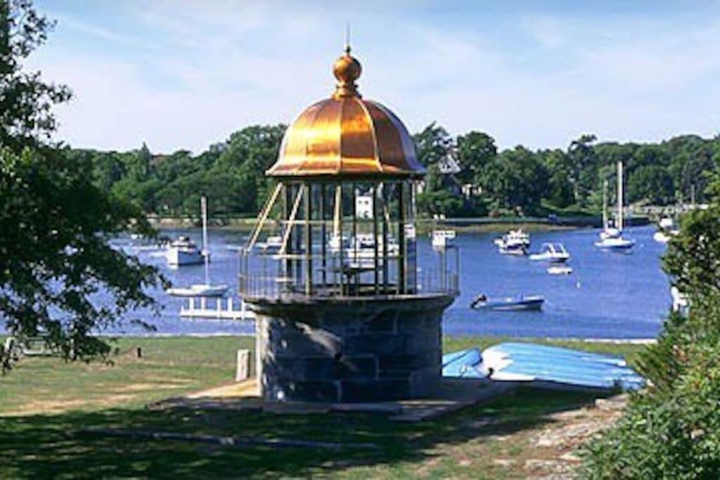 Replica of Minot Light at Cohasset Harbor
