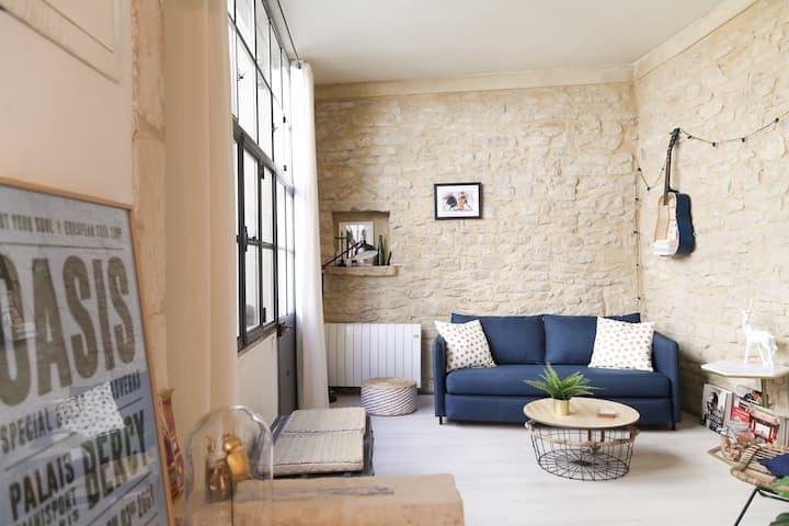 📍💖 Plein centre Nîmes : Maison cosy avec jardin