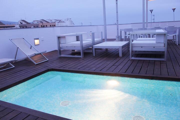 Vivienda junto al mar, terraza 90m. en el  centro
