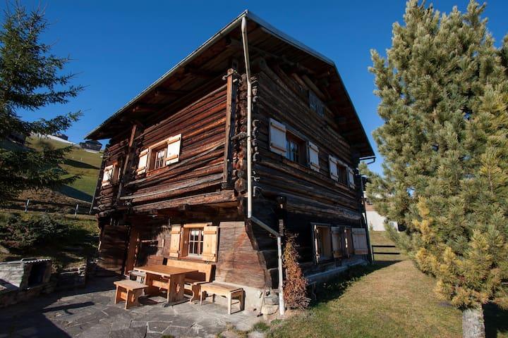 Liebevoll ausgebauter Walser-Stall in den Bergen - Valendas
