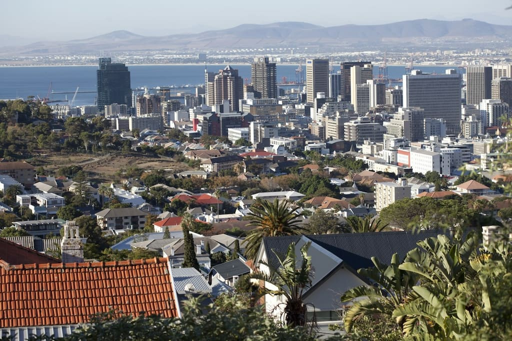 View by day looking towards town and Table Bay - East