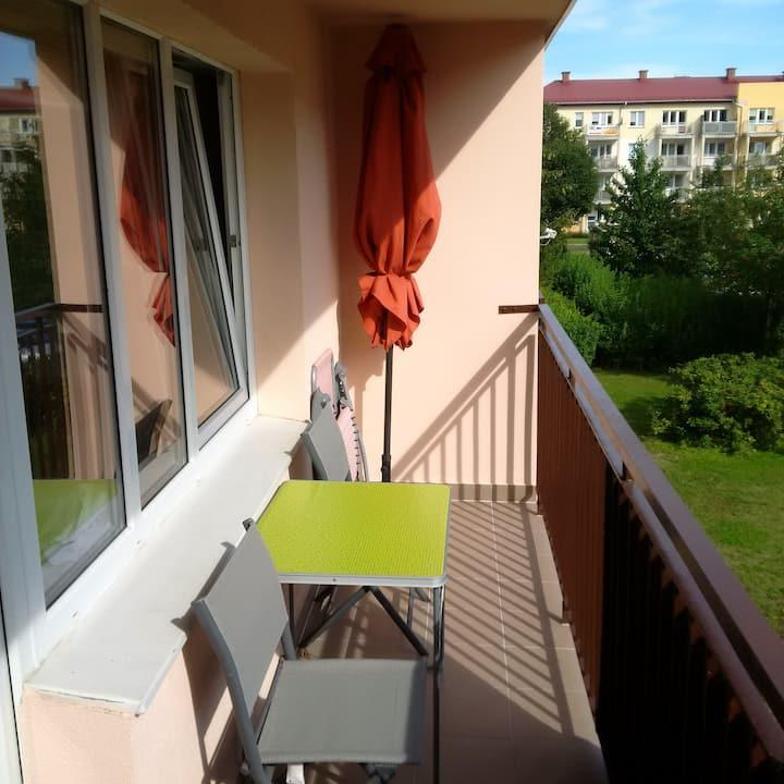 Slupsk - Ganze Wohnung mit Südbalkon