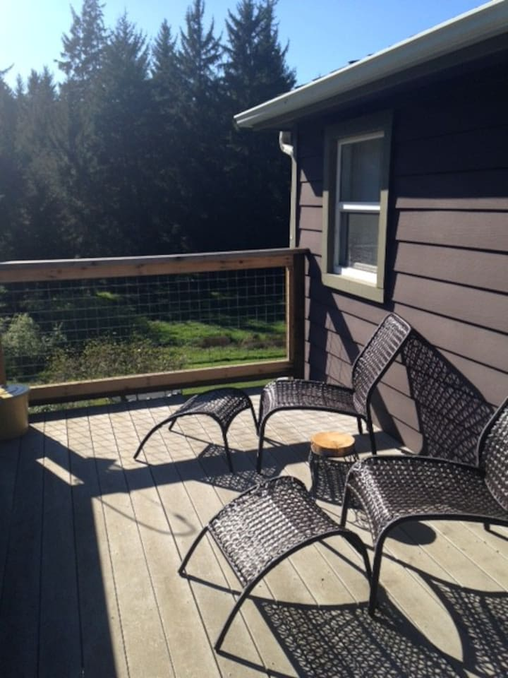 enjoy views from private deck