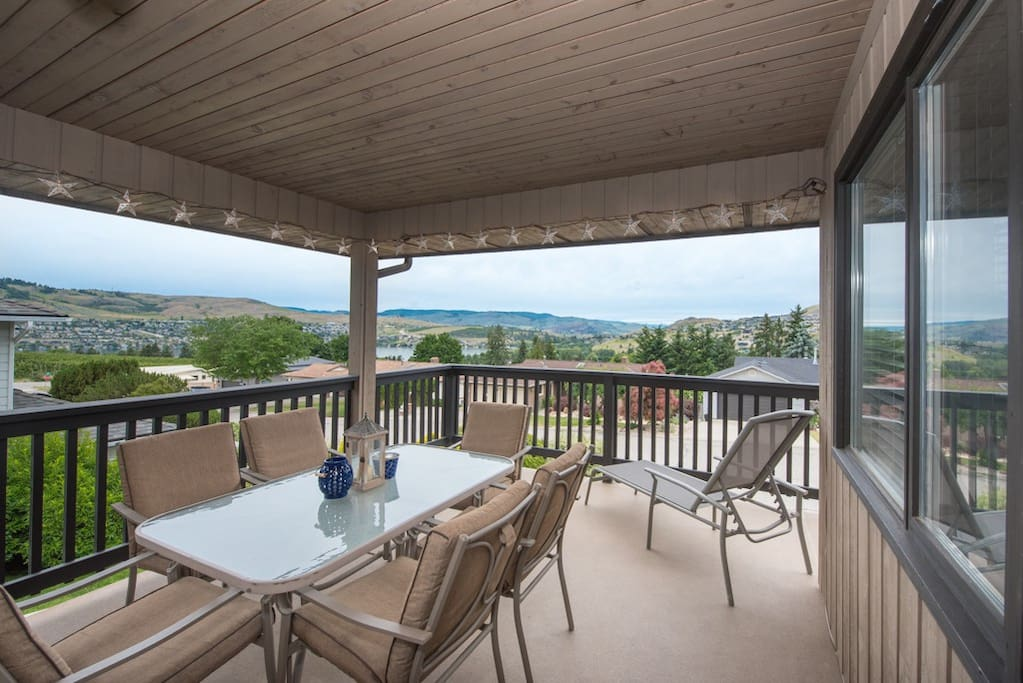 Outdoor living on the covered deck