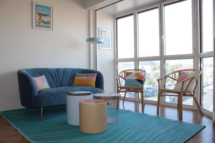 Nouveau! Appartement T2, 50m plage:Piscine,Tennis