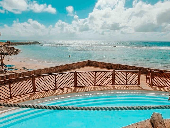 Studio Ti Soley avec piscine et mer Saint-François
