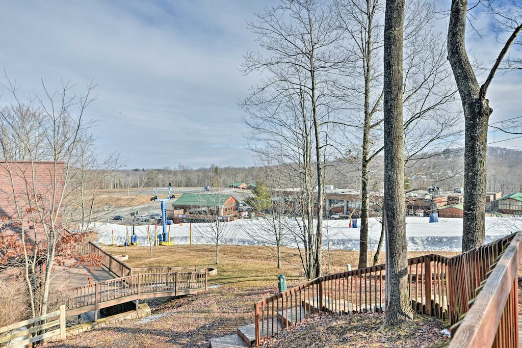 You'll love the home's location literally a stone's throw away from Winterplace Ski Resort.