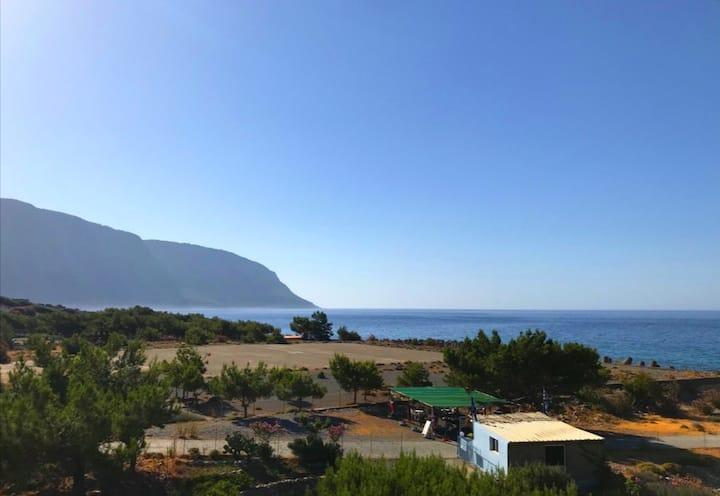 """Galini"" room with sea view."