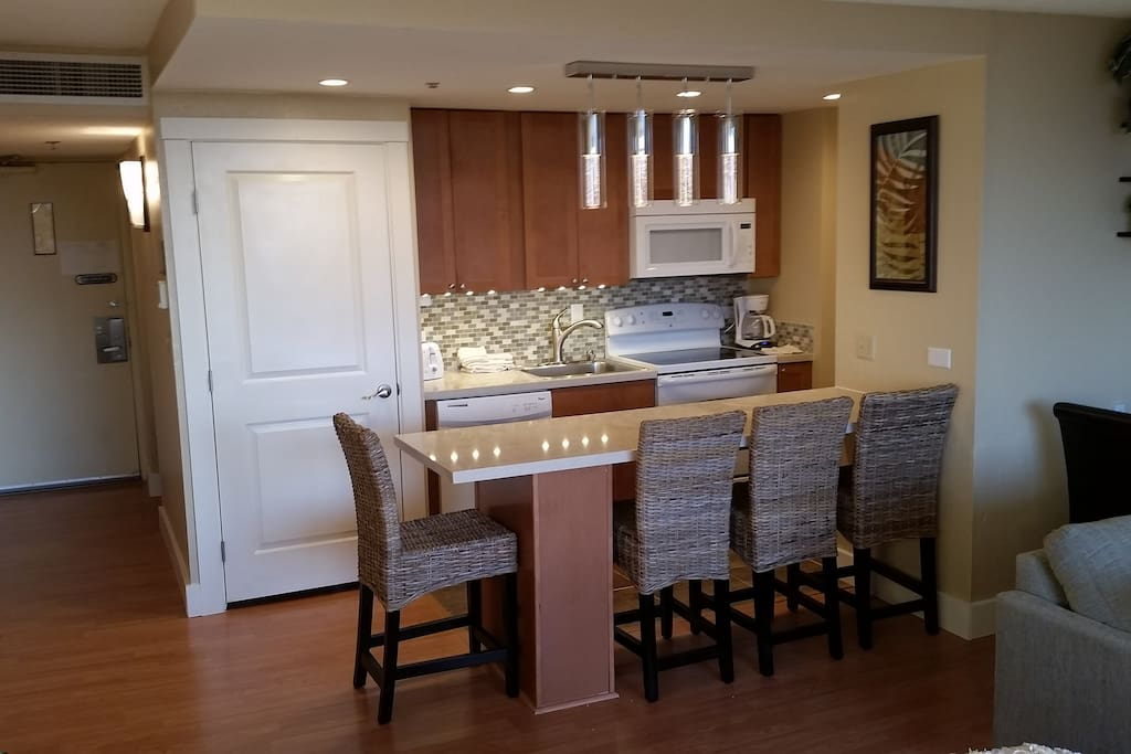 An updated kitchen with everything you need.