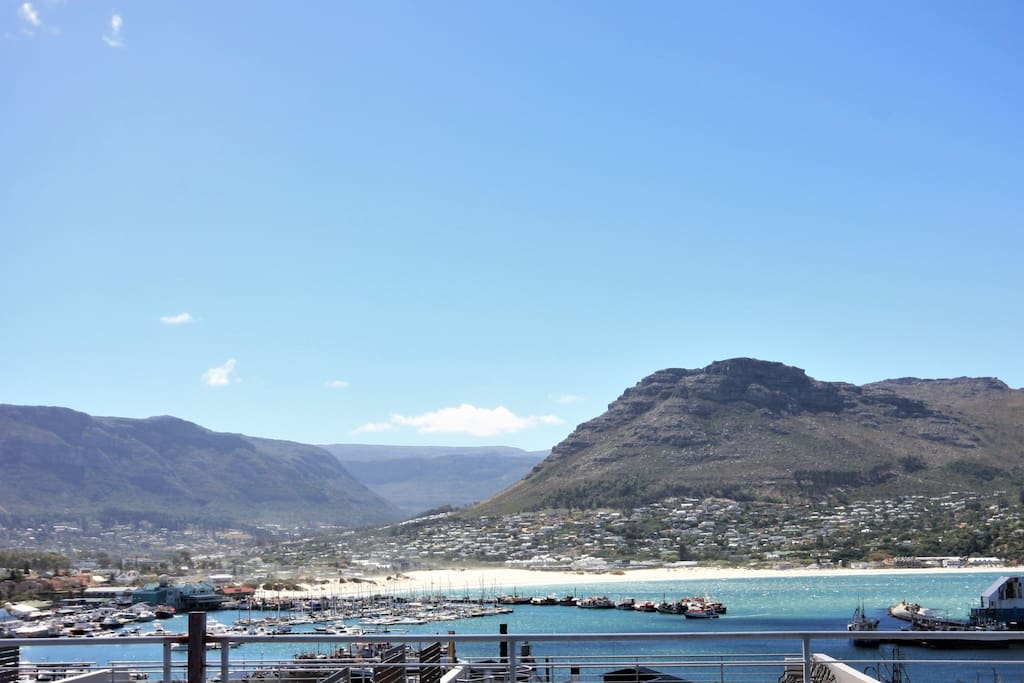 View of Hout Bay from the balcony
