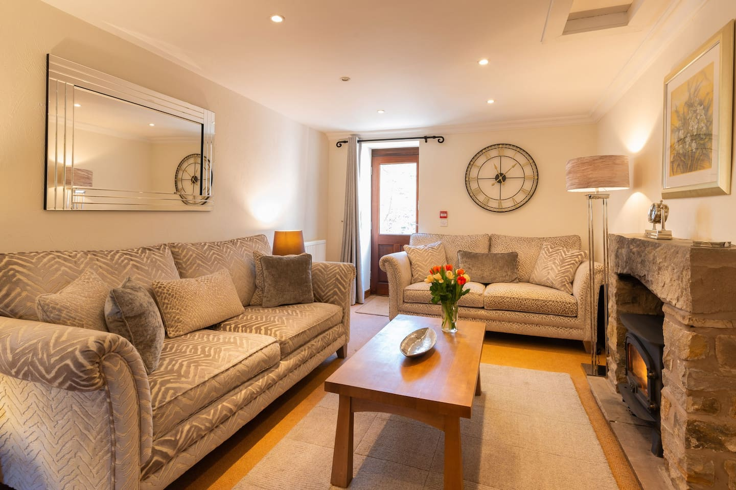 Leagram lounge at Wolfen Mill  Luxury self catering lancashire