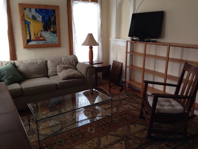 Private 1 bdr apartment with kitchen, downtown - Ithaca - Leilighet