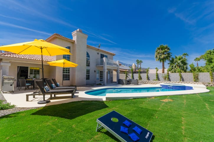 5BR Palm Springs Desert Oasis!! Pool+Spa+BBQ!