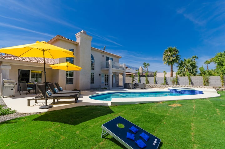 5BR Palm Springs Desert Oasis!! Pool+Spa+BBQ!