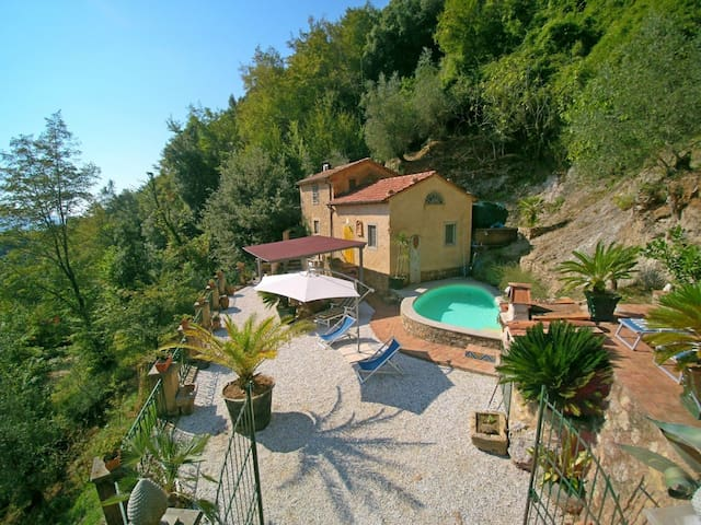 Casa Rocca - Small Nest for 4 People, with Pool, middle in the green of Tuscany