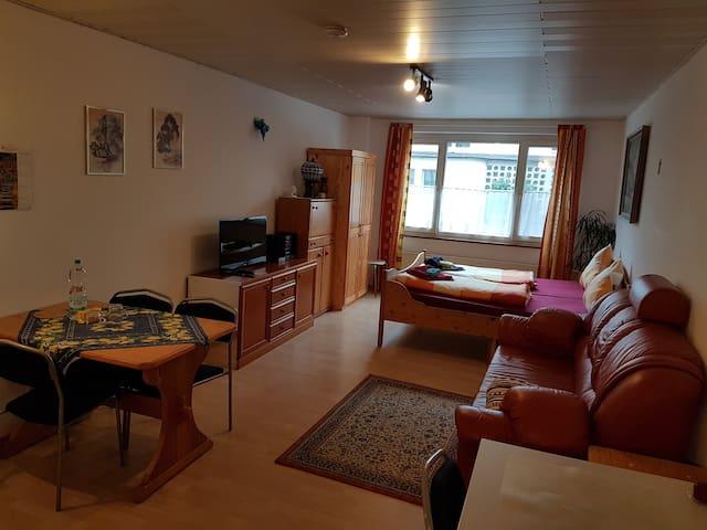 """Ferienwohnung Uhr, (Konstanz), 1 Ferienwohnung """"Mainau"""", 32qm, 1 Wohn-/Schlafzimmer, max. 3 Personen"""