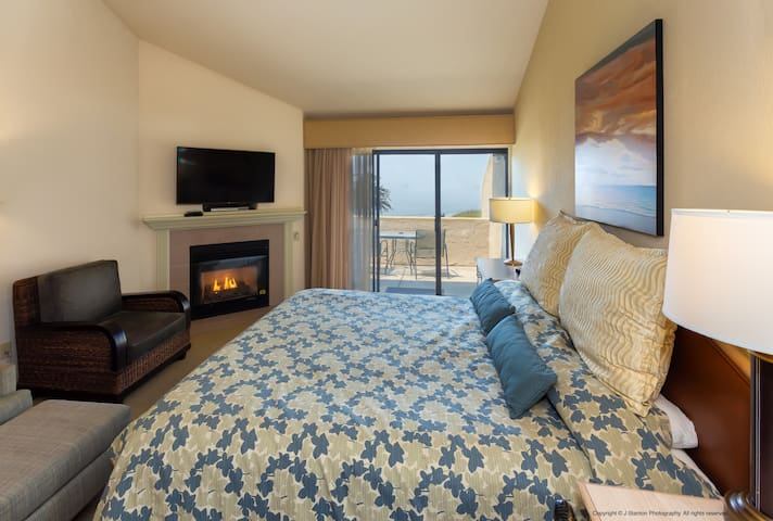 Cozy up next to the fireplace for some rest and relaxation during your stay.
