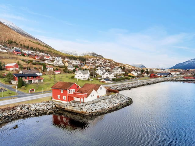 The little red house by the fjords
