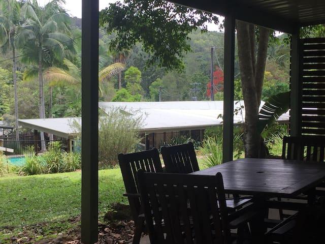 Alfresco Rainforest Dining Overlooking Pool