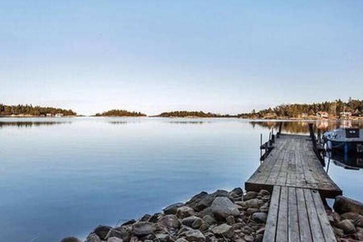 Skärgårdsidyll i svenska ytterskärgården
