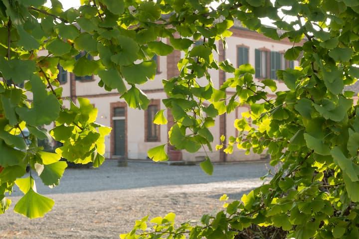 Grande casa di campagna in corte privata